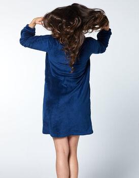 Vestaglia in pelliccetta, blu, , LOVABLE