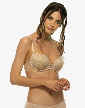 Reggiseno push up balconette Celebrity, skin, in pizzo e tulle-LOVABLE