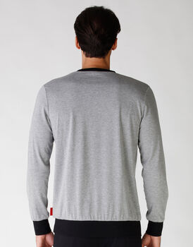 Casacca stampata grigio melange + nero, , LOVABLE