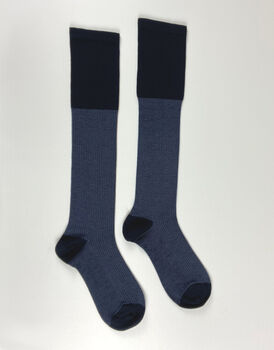 Calza al ginocchio da uomo Elegant Graphisme, blu, , LOVABLE