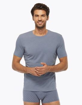 T-Shirt Girocollo in cotone modal, azzurro polvere, , LOVABLE