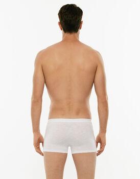 Boxer Slub Cotton bianco in cotone fiammato-LOVABLE