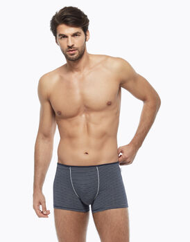 Short in cotone modal, blu a righe bianche, , LOVABLE