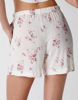 Pantaloncino del pigiama in viscosa, stampa floreale, , LOVABLE