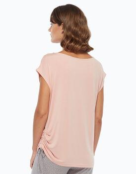Maglia manica corta in cotone modal, blush, , LOVABLE