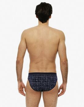 Slip blu navy stampato in cotone modal-LOVABLE