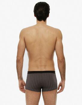 Short boxer, cioccolato chevron, in cotone modal-LOVABLE