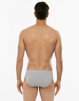 Slip mini Cotton Stretch grigio melange in cotone elasticizzato-LOVABLE