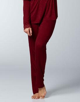 Pantaloni lunghi in viscosa, bordeaux, , LOVABLE