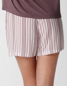 Pantaloncino del pigiama in tela di viscosa, rigato, , LOVABLE