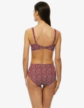Bikini stampa a pois in microfibra stampata e lamina, , LOVABLE