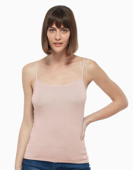 Top in viscosa, rosa chiaro, , LOVABLE