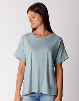 T-shirt manica 3/4 in cotone organico, verde eucalipto, , LOVABLE