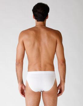 Slip in cotone elasticizzato, confezione x4 bianco, , LOVABLE