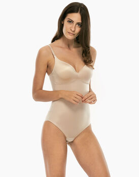 Body con ferretto sfilabile 24h Lift, skin, in microfibra Media contenitività-LOVABLE