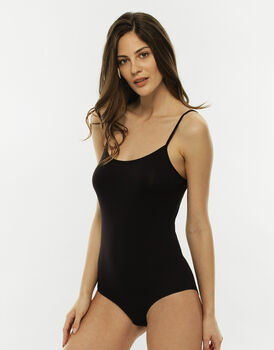 Body spallina stretta Basic Soul, nero, in viscosa-LOVABLE
