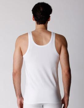 Canotta uomo in cotone biologico, confezione x2 bianco, , LOVABLE