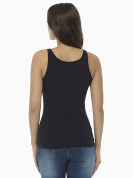 Top Basic Soul nero in cotone Supima-LOVABLE