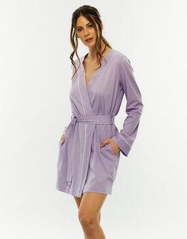 Vestaglia Kimono lilla, in cotone modal-LOVABLE