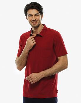 T - shirt manica corta rosso, in cotone, , LOVABLE