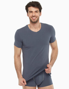 T-shirt scollo a V, grigio scuro, , LOVABLE