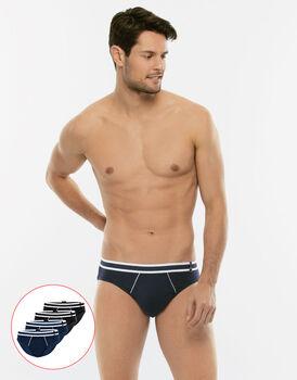 Slip uomo Easy Trend, confezione x4 colori nero e blu, , LOVABLE