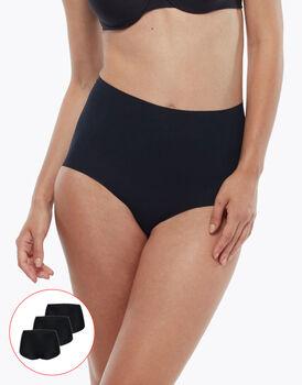 Slip alto Invisible Comfort Micro, confezione x3 nero, , LOVABLE
