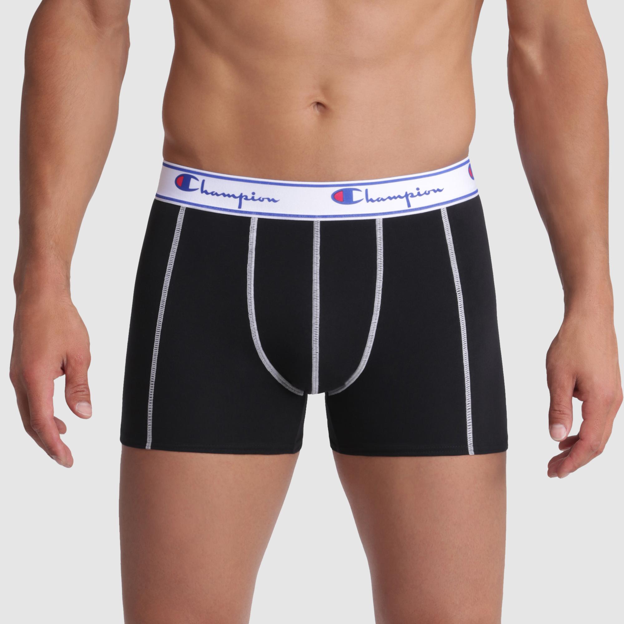 Boxer nero con cuciture bianche a contrasto – Champion, , DIM