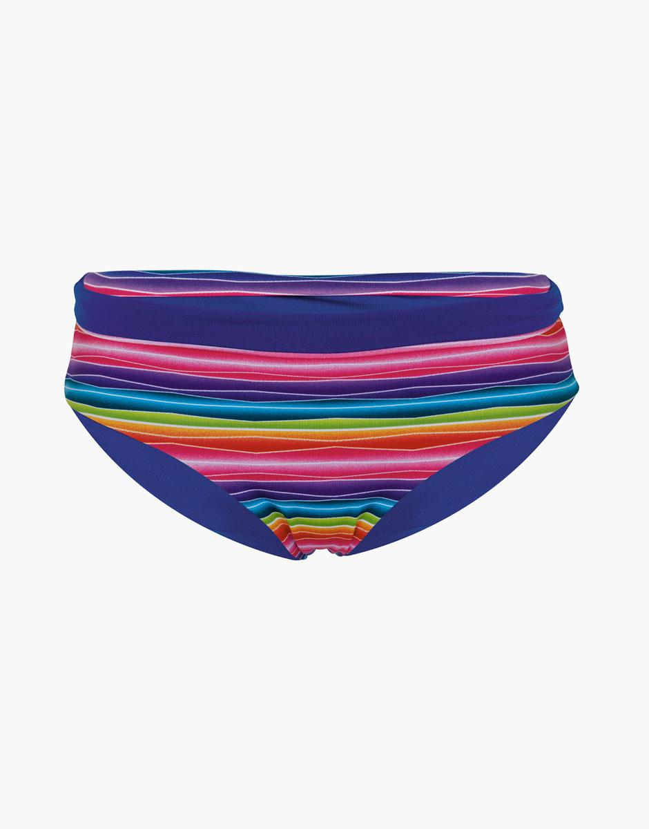 Bikini slip reversibile stampa arcobaleno e blu elettrico - Arcobaleno a colori e stampa ...