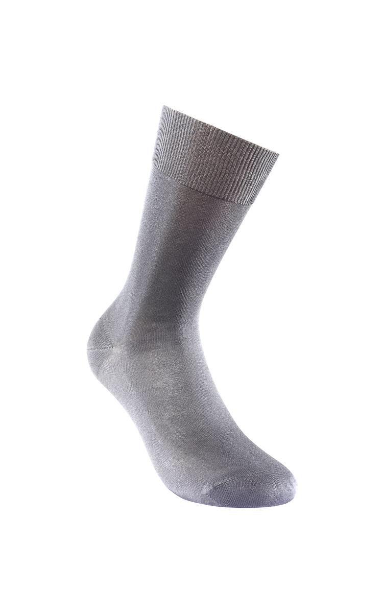 Calzino corto grigio scuro in filoscozia-LOVABLE
