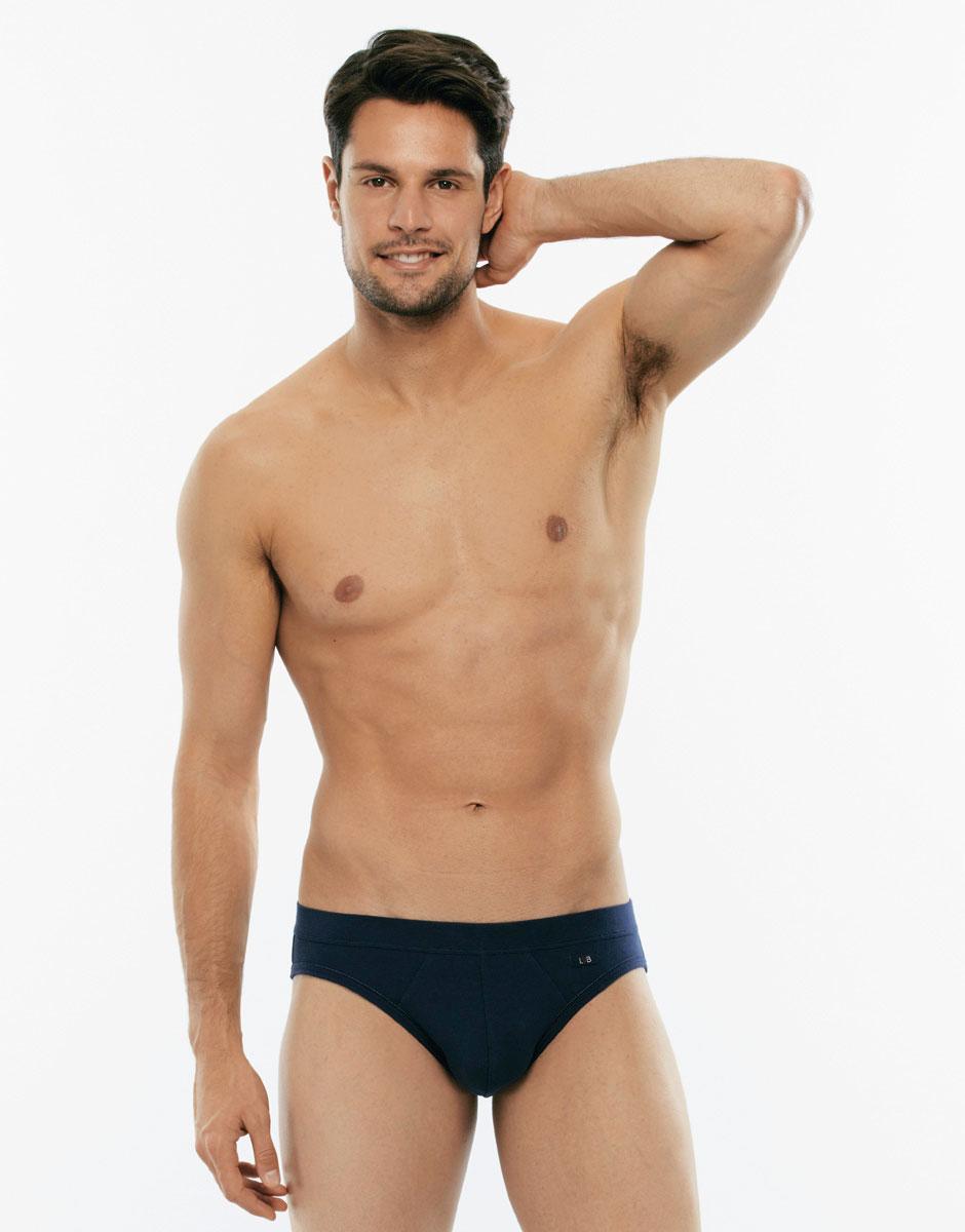 Slip mini Cotton Stretch grigio blu in cotone elasticizzato-LOVABLE