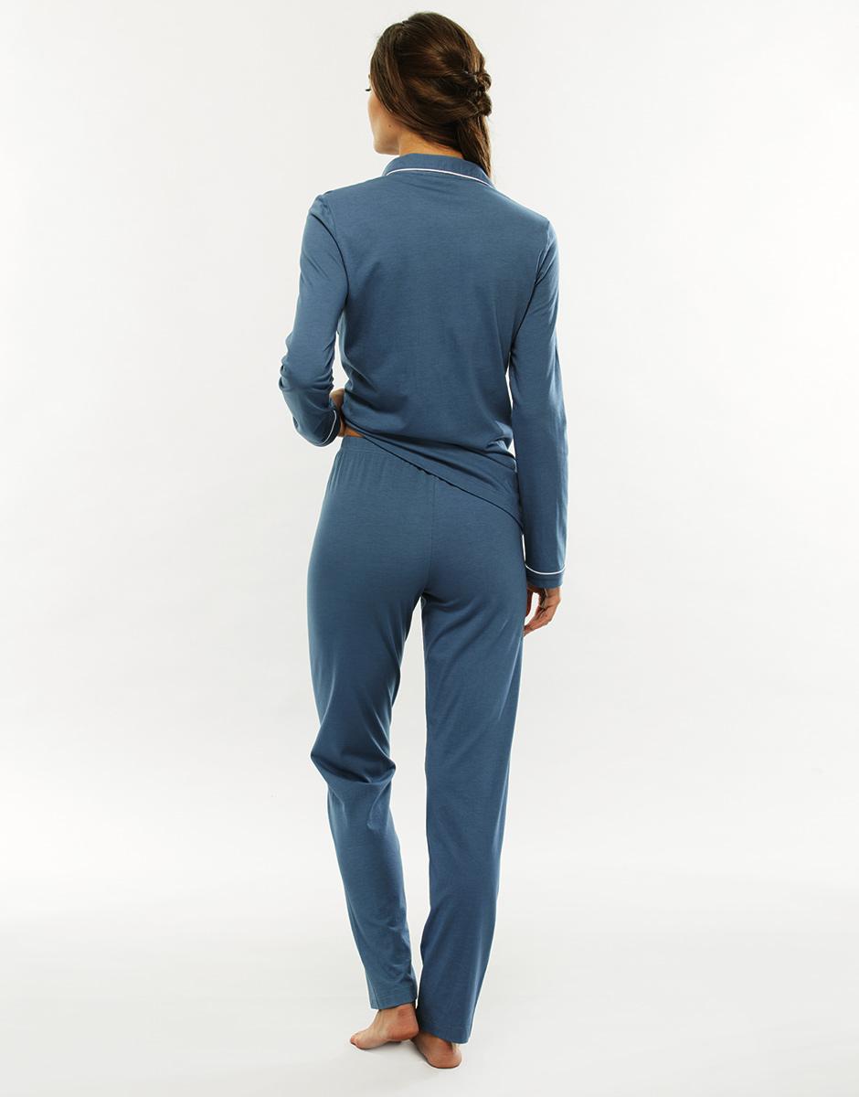 f5b2dd4b6602 ... Pigiama manica e gamba lunga, blue jeans, in cotone modal-LOVABLE