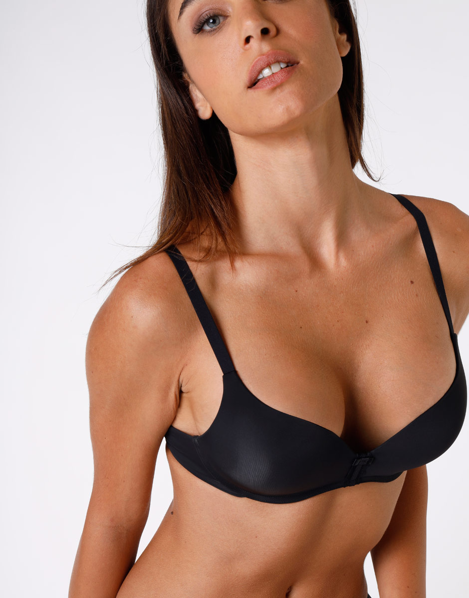 Reggiseno push up con ferretto My Daily Comfort, nero, in microfibra ultra soft-LOVABLE