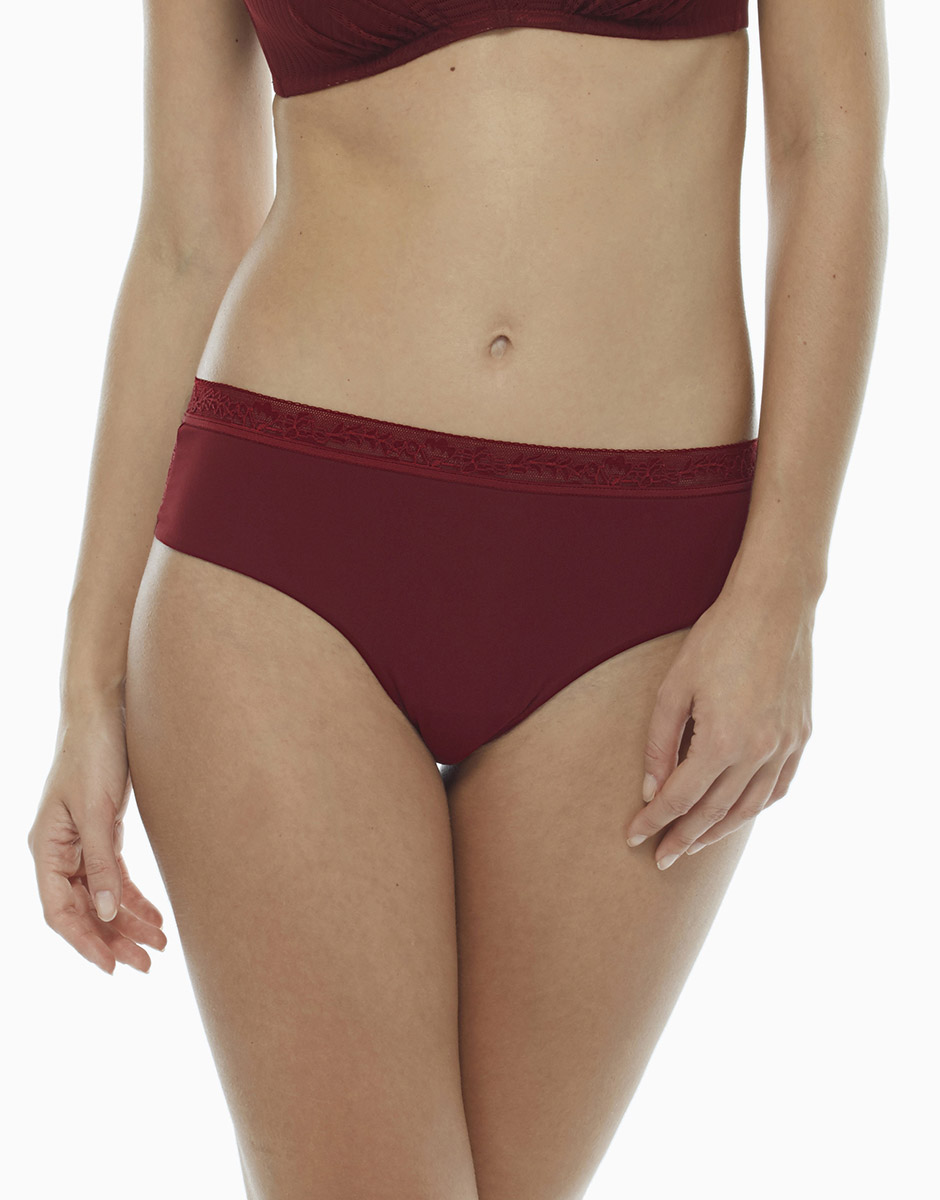 Slip Invisible Exclusive bordeaux in microfibra e pizzo, , LOVABLE