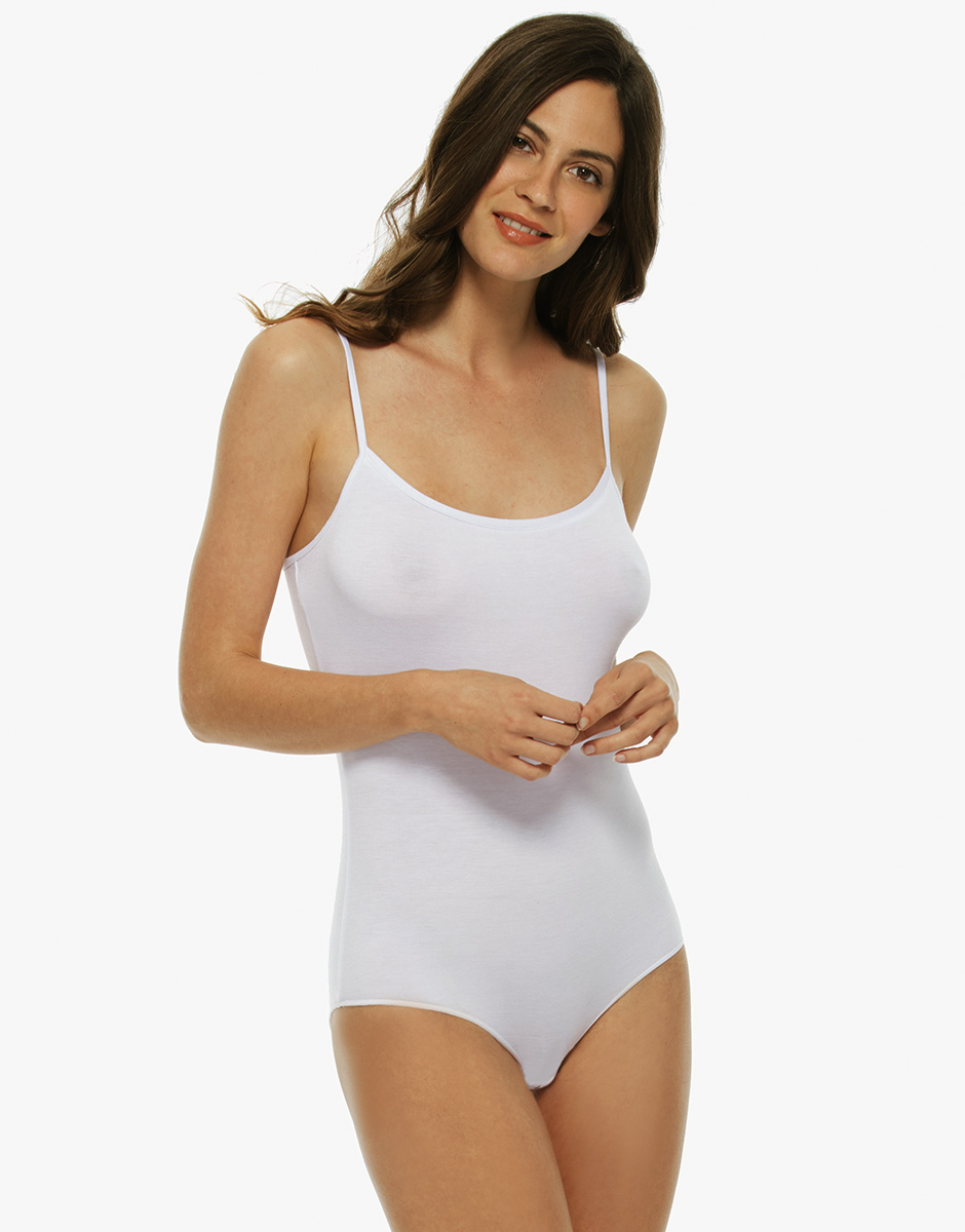 Body Basic Soul, bianco, in viscosa-LOVABLE