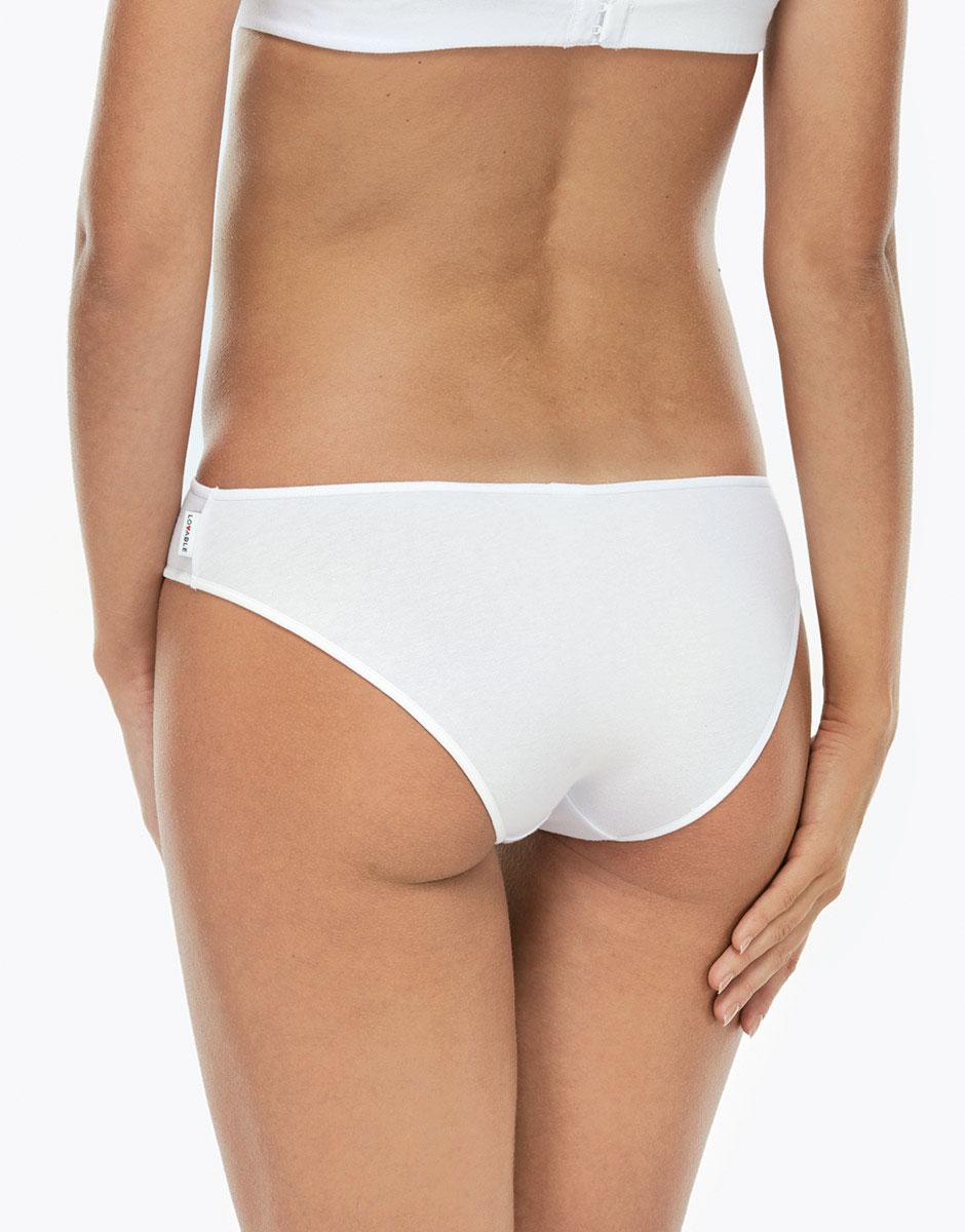 Slip Essential Cotton bianco in cotone-LOVABLE