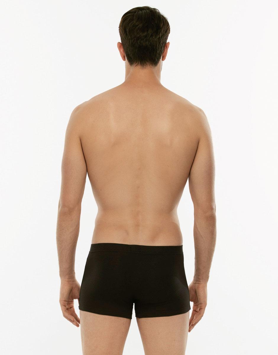 Boxer 24h Freshness nero in cotone elasticizzato-LOVABLE