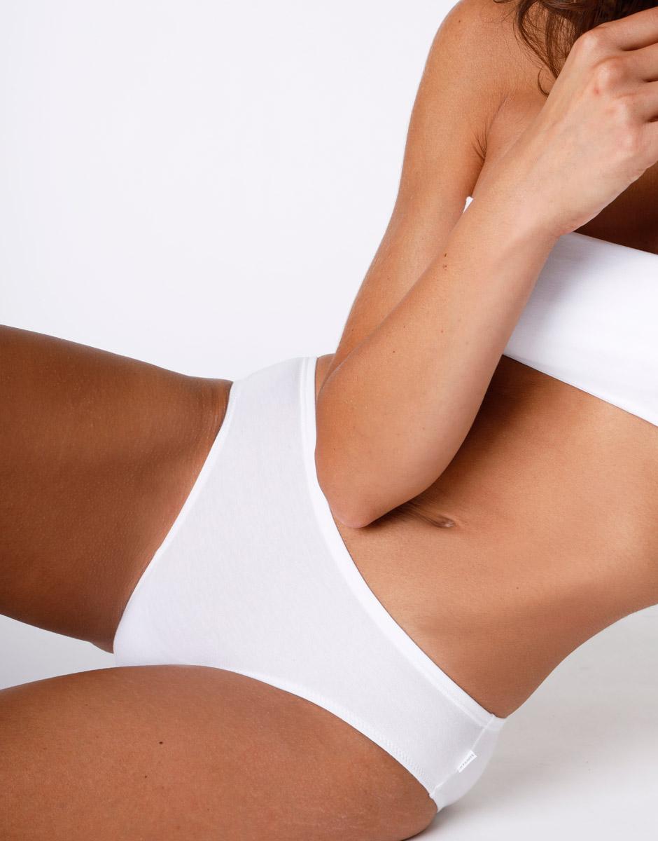 Slip Lovely vita bassa bianco in cotone modal vellutato-LOVABLE