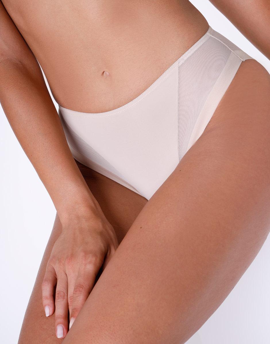 Slip midi sgambato Invisible Ultralight skin in microfibra e tulle. Massima invisibilità-LOVABLE