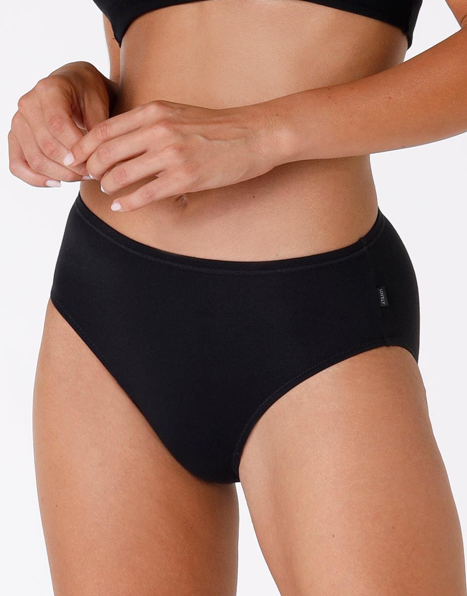 Slip midi Lovely nero in cotone modal vellutato-LOVABLE