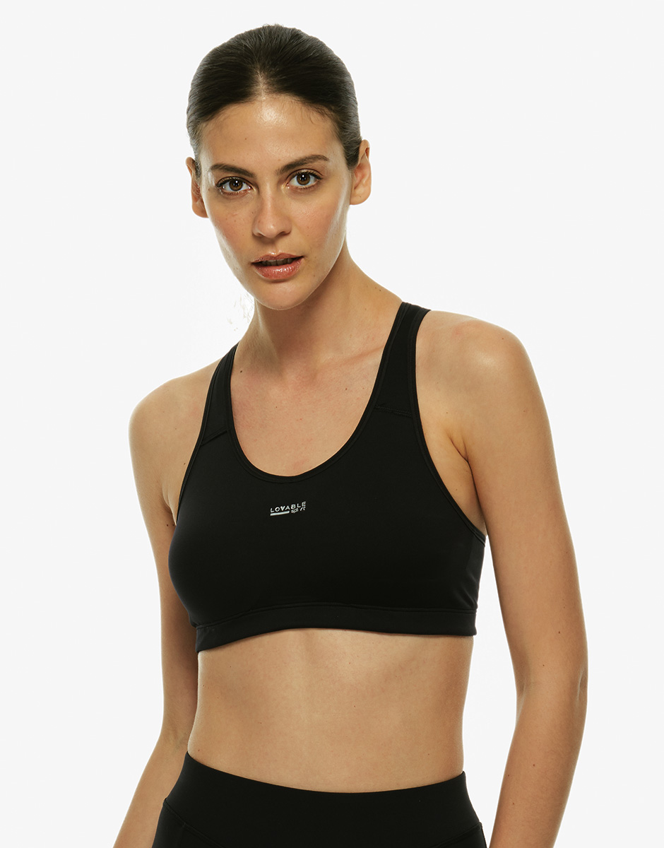 Brassiere Active Lovable Sport nero. Medio Impatto-LOVABLE