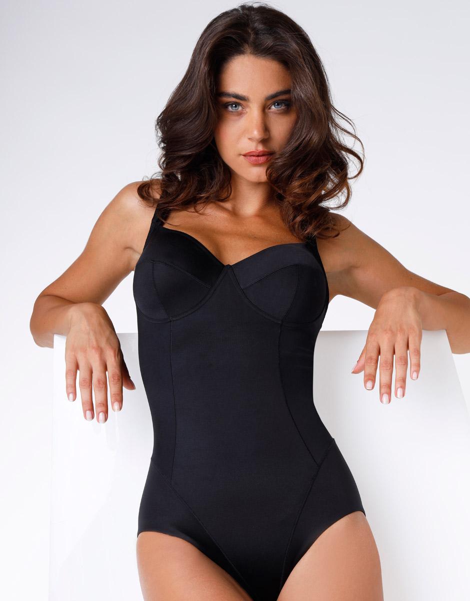 Body senza ferretto Shaping nero alta contenitività-LOVABLE