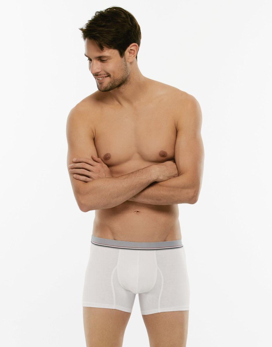 Bipack Boxer Cotton 3D Flex bianco in tessuto 3D Flex extra stretch e cotone elasticizzato-LOVABLE