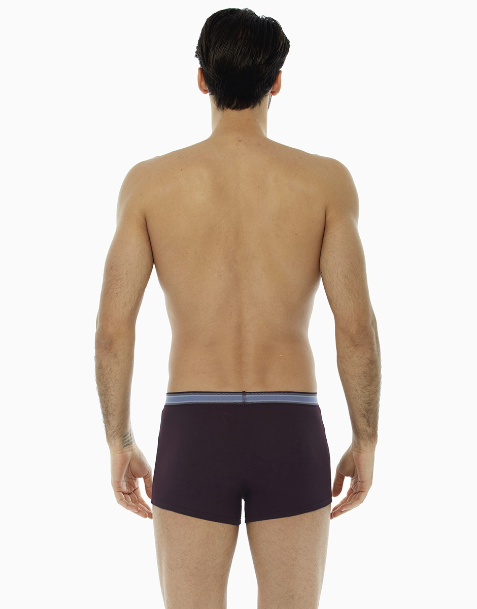 Boxer bordeaux, in cotone elasticizzato, con elastico jacquard in vita , , LOVABLE