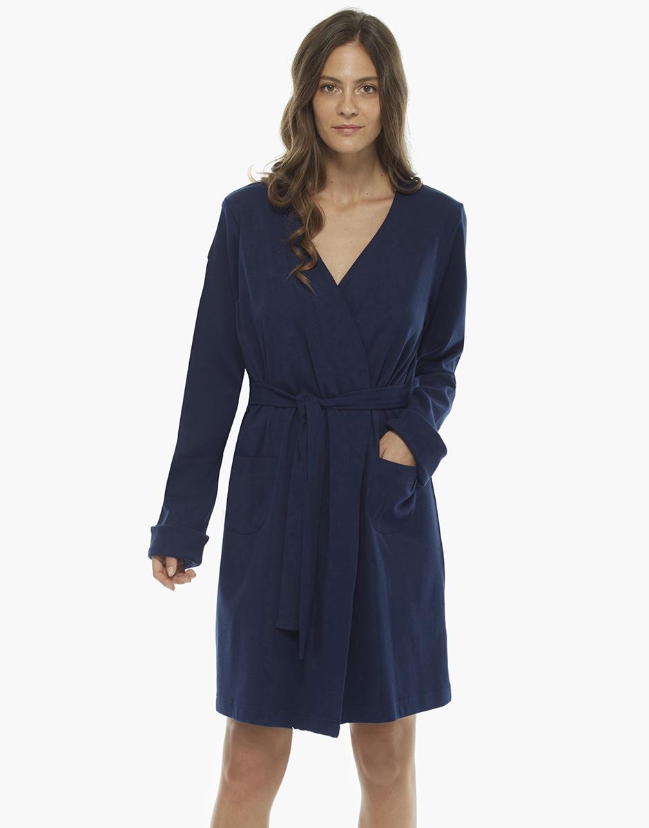 Vestaglia blu in cotone, , LOVABLE