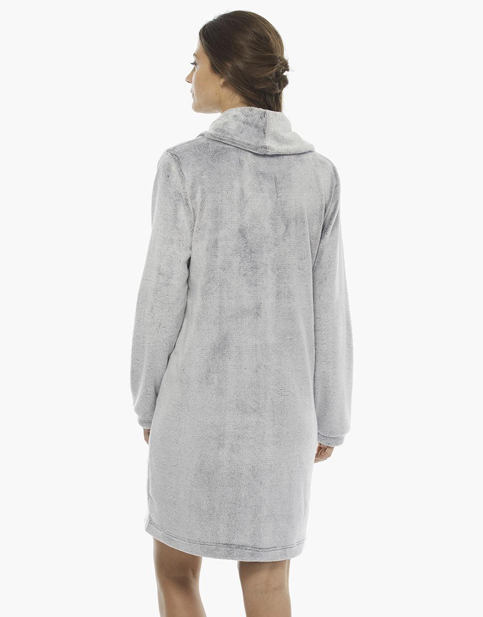 Vestaglia grigio melange, in pelliccetta , , LOVABLE