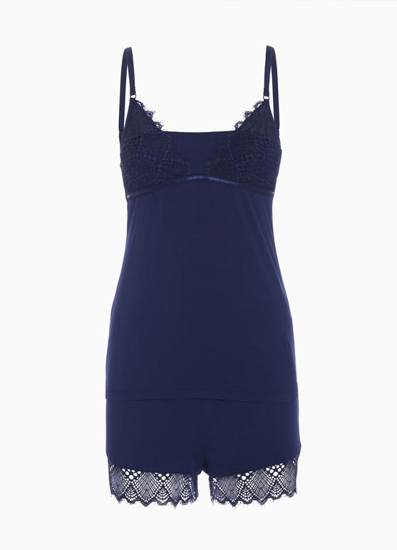 blue trendy lace
